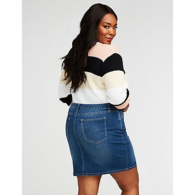 Plus Size Refuge Denim Pencil Skirt