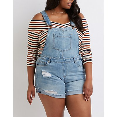 Destroyed Short Overalls
