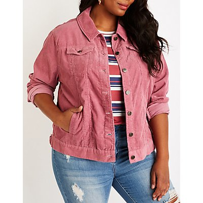 Plus Size Corduroy Jacket