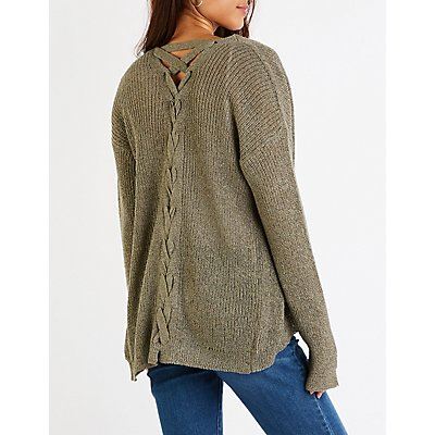 Lattice Open Front Cardigan