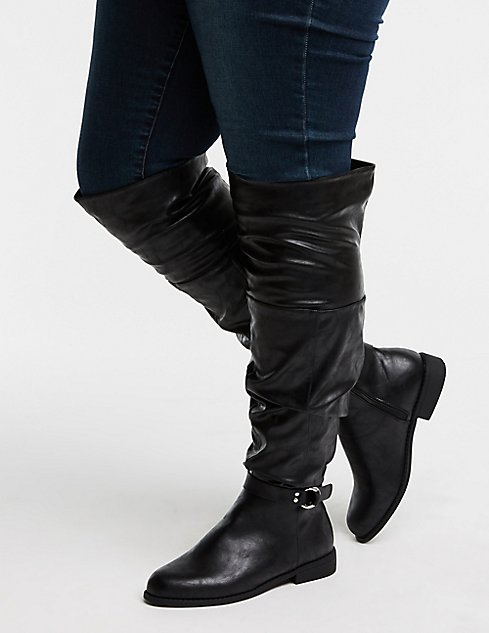 Charlotte Leather Russe Boots ShoptagrWide Slouchy Faux By mN8n0w