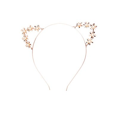 Faux Pearl Cat Ear Headband