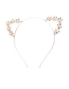 Faux Pearl Cat Ear Headband