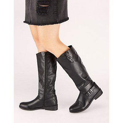 Buckle Riding Boot