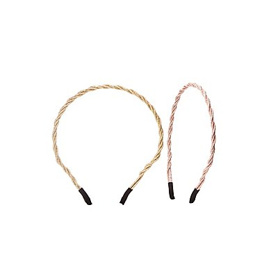 Metallic Twist Headbands - 2 Pack