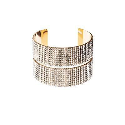 Rhinestone Cuff Bracelet