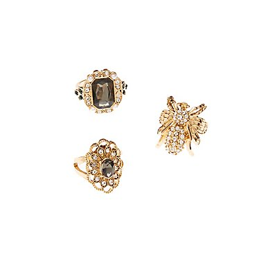 Rhinestone & Crystal Rings