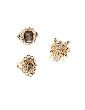 Rhinestone & Crystal Rings
