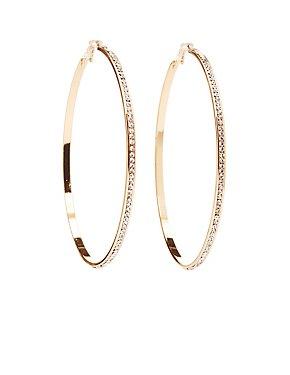 Rhinestone Hoop Earrings