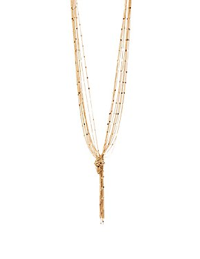 Knotted Multi Chain Necklace