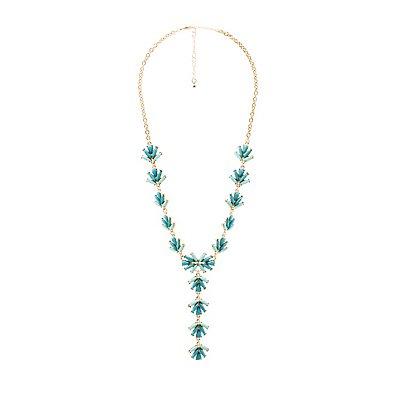 Rhinestone Lariat Necklace