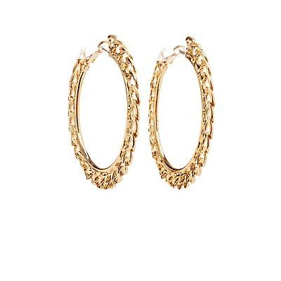 Chain Hoop Earrings