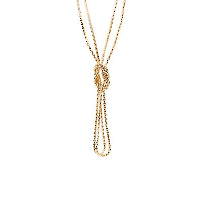 Knotted Double Chain Necklace