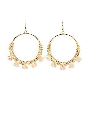 Rhine Stone Hoop Earrings