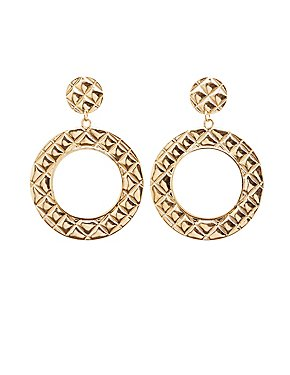 Quilted Hoop Earrings