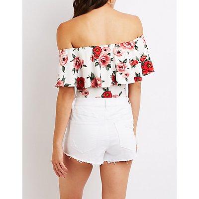 Floral Off The Shoulder Top