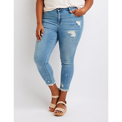 Plus Size Cello Cropped Skinny Jeans