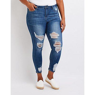 Plus Size Cello Hi Rise Skinny Jeans