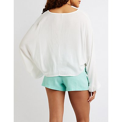 Crochet-Inset Dolman Top