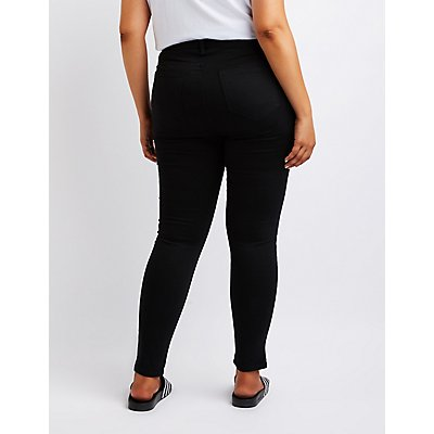 Plus Size Cello Mid-Rise Skinny Jeans