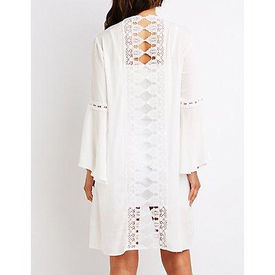 Crochet Longline Kimono