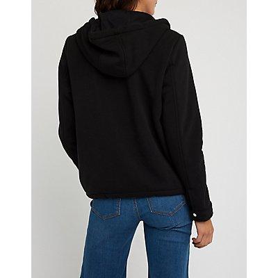 Hooded Sweatshirt Fleece Jacket