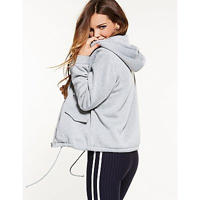 Hooded Sweatshirt Fleece Jacket