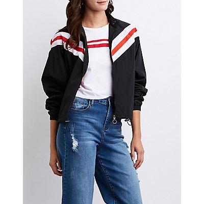 Chevron Windbreaker Jacket