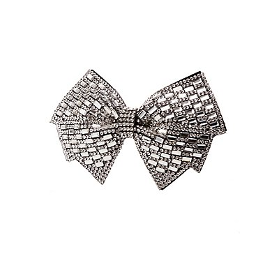 Oversized Crystal Bow Hair Clip