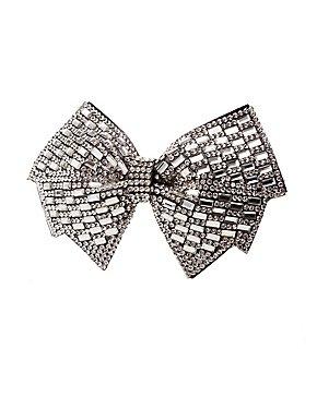 Oversized Crystal Bow Hair Clip