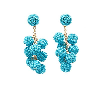 Cluster Beaded Drop Earrings