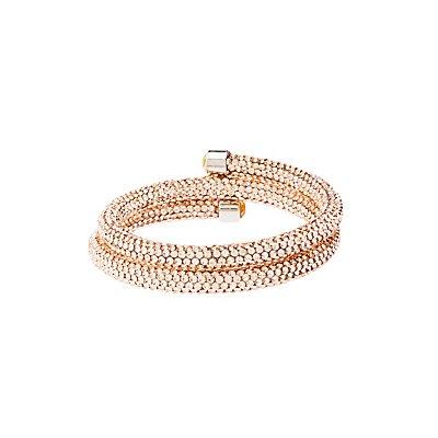 Crystal Mesh Wrap Bracelet