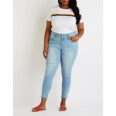 Plus Size Hi Rise Skinny Jeans