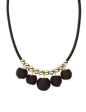 Wrap Ball Pendant Necklace