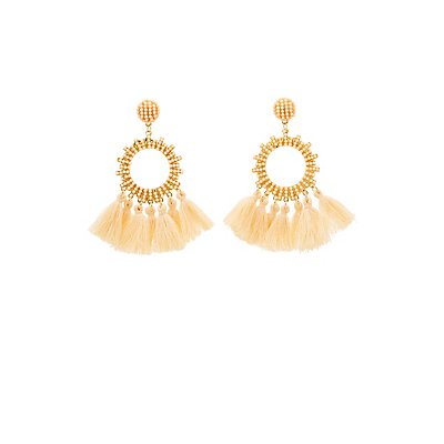 Circle Tassel Drop Earrings