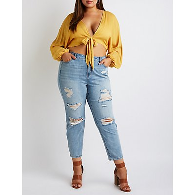 Plus Size Refuge Mom Jeans