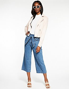 Refuge Denim Wide Leg Trousers