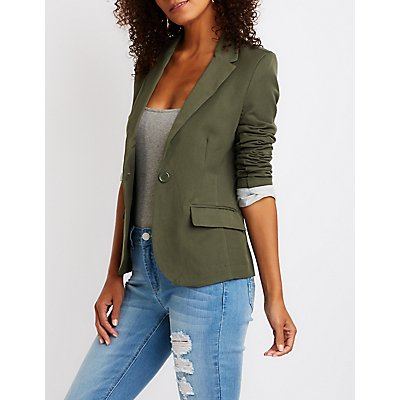 Single Button Cuffed Blazer