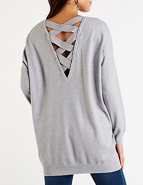Crisscross Back V Neck Tunic