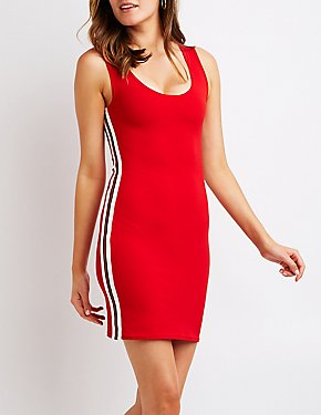 Varsity Stripe Bodycon Dress