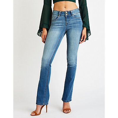 Mid Rise Flared Jeans