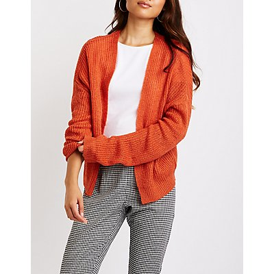 Cropped Open Front Cardigan