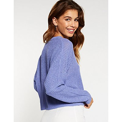 Single Pocket Cropped Sweater
