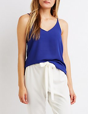 Chiffon V-Neck Tank Top