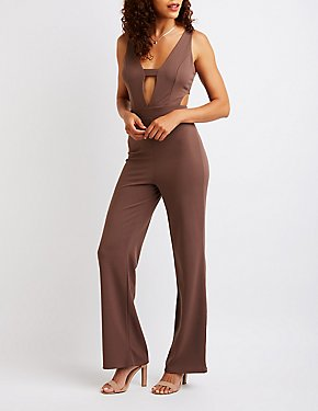 Cut Out Wide Leg Jumpsuit