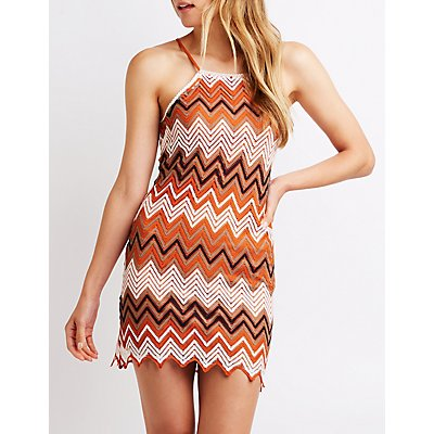 Bib Neck Crochet Dress by Charlotte Russe