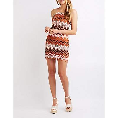 Bib Neck Crochet Dress
