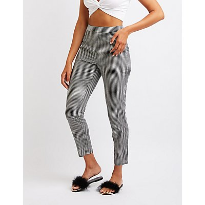 Gingham Slim Leg Trousers