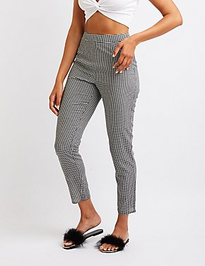 Gingham Slim Leg Trousers