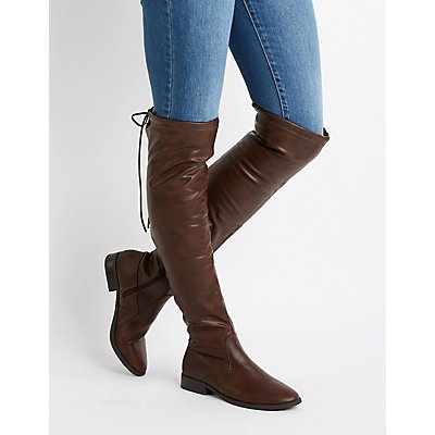 Over The Knee Riding Boots | Tuggl